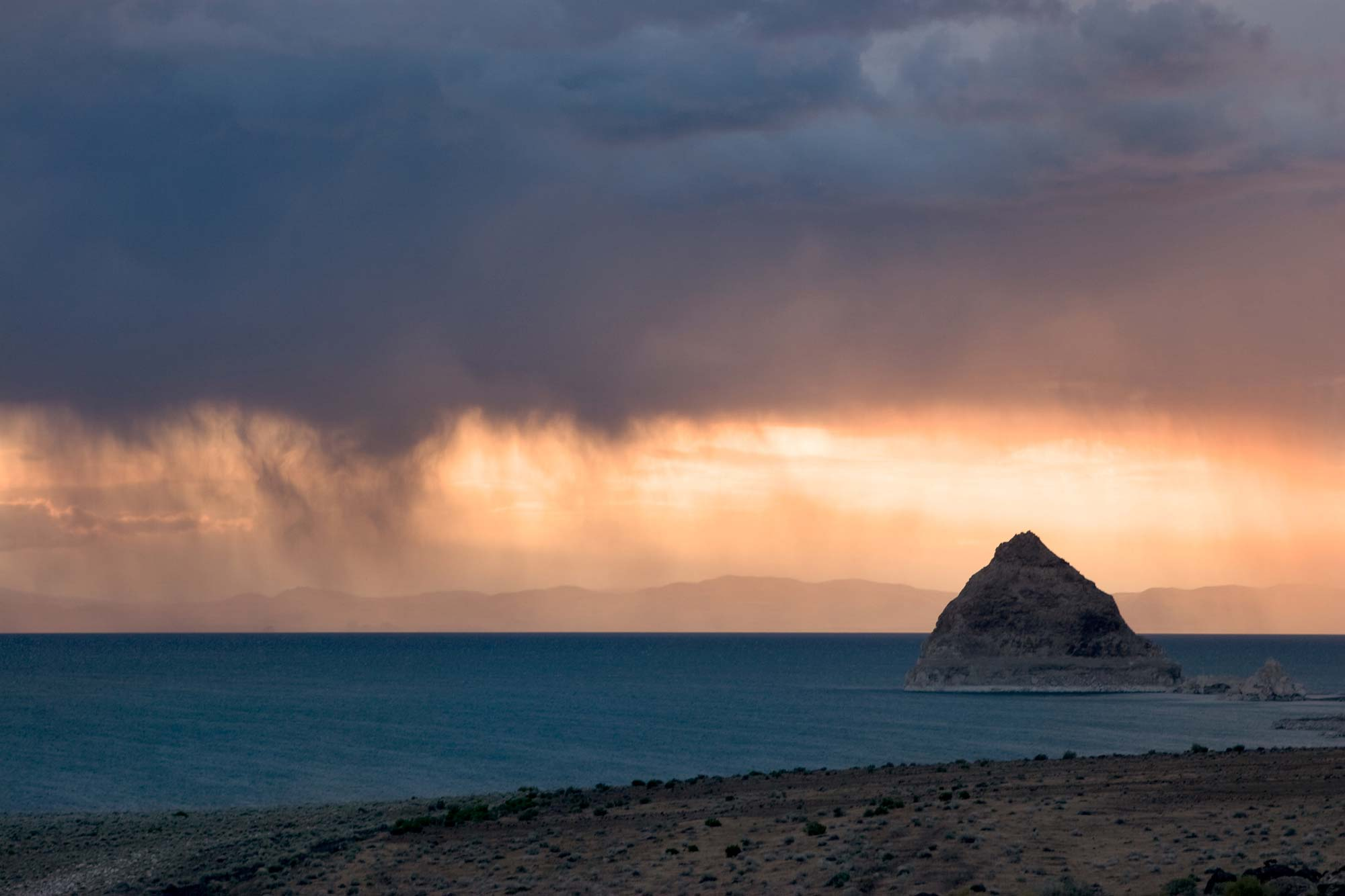 Pyramid Lake Sunset Storm Photography