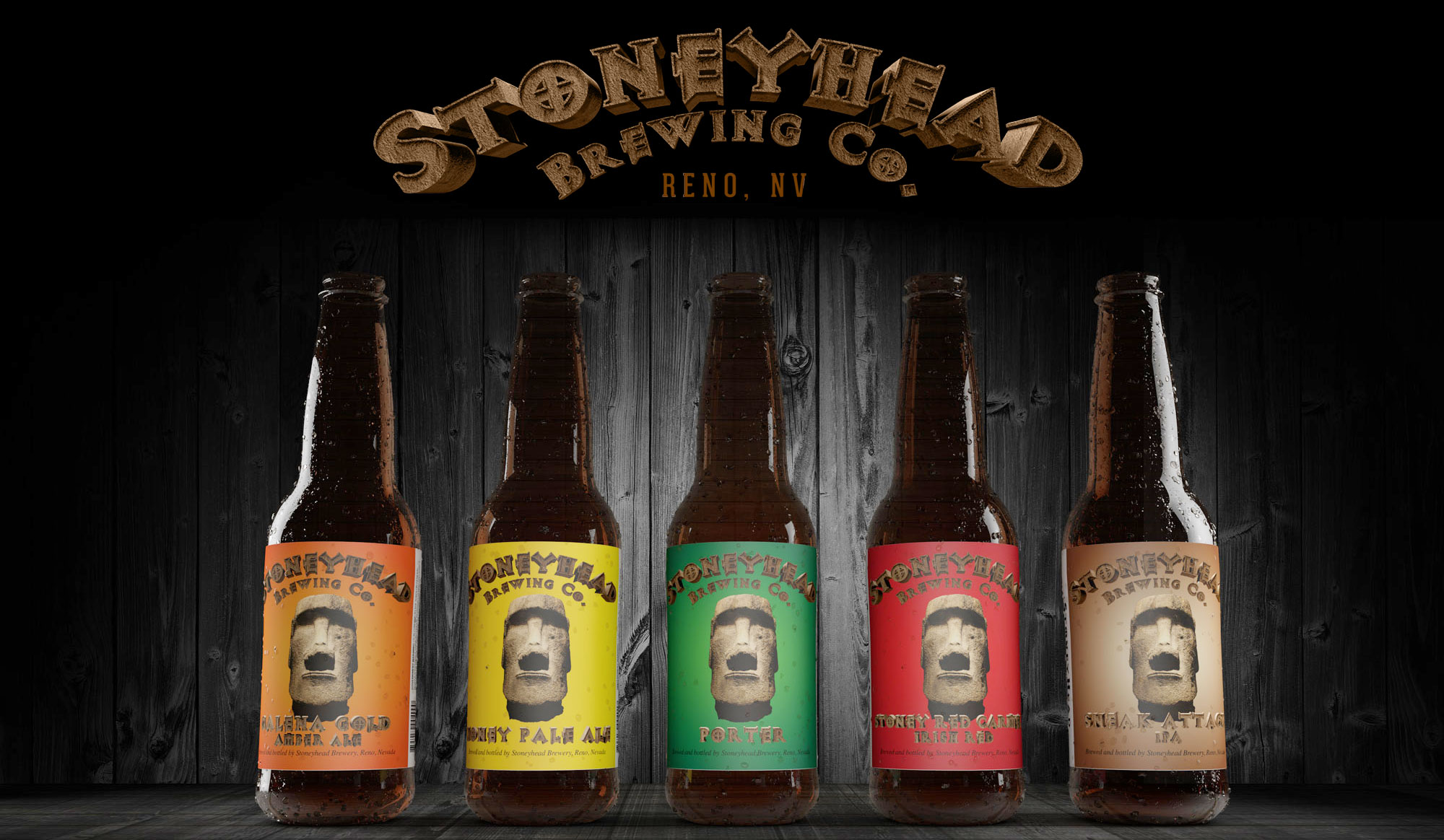 Stoneyhead Beer label designs
